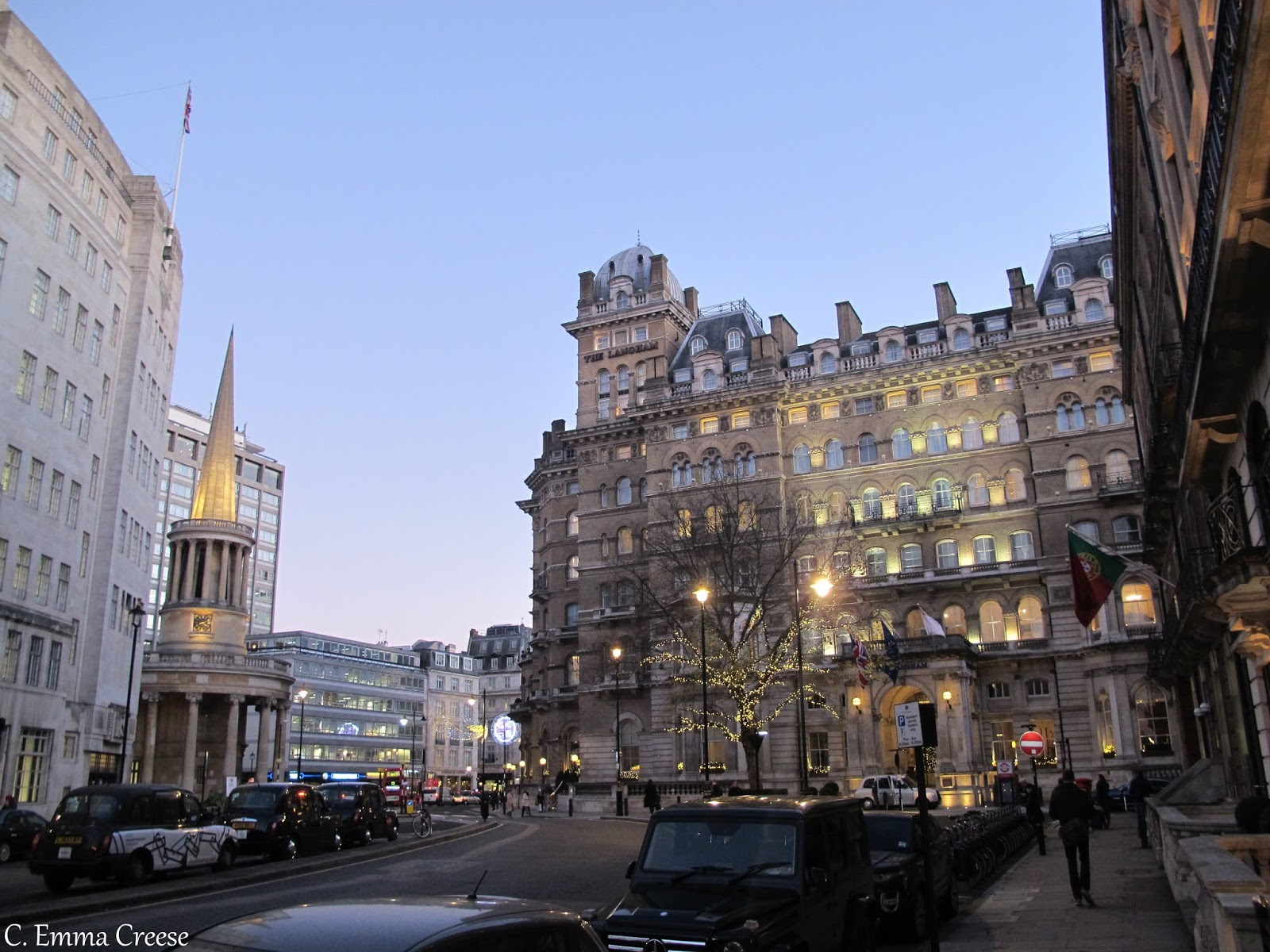 A Christmas corner of London: Oxford Street and Picadilly Circus