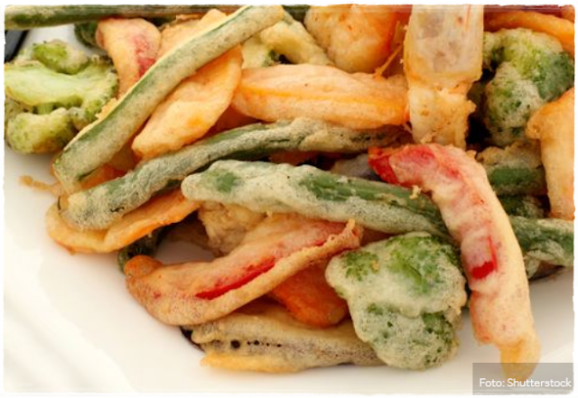 Receita Recipe Receta Tempurá de Legumes Comida Japonesa Japanese Food