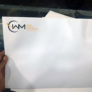 cetak amplop folio putih bahan hvs 100 gram