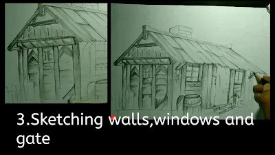 How to draw windows, gate , step by step guide, tutorials online drawings