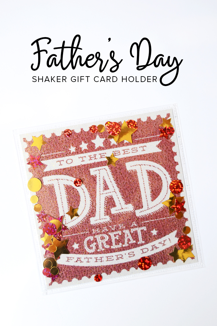fathers day shaker gift card holder printable for dad