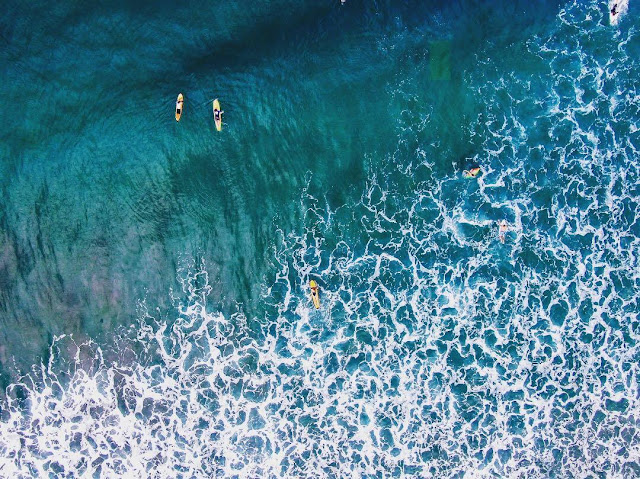 kuta beach bali drone photography