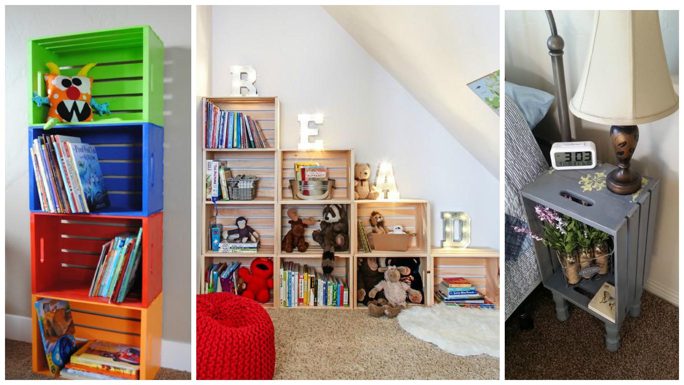 Haz muebles y organizadores para tu hogar con cajas de for Muebles con cajas de madera