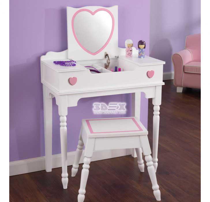 Lovely Girl's Dressing Table Design Ideas For Kid's Bedroom