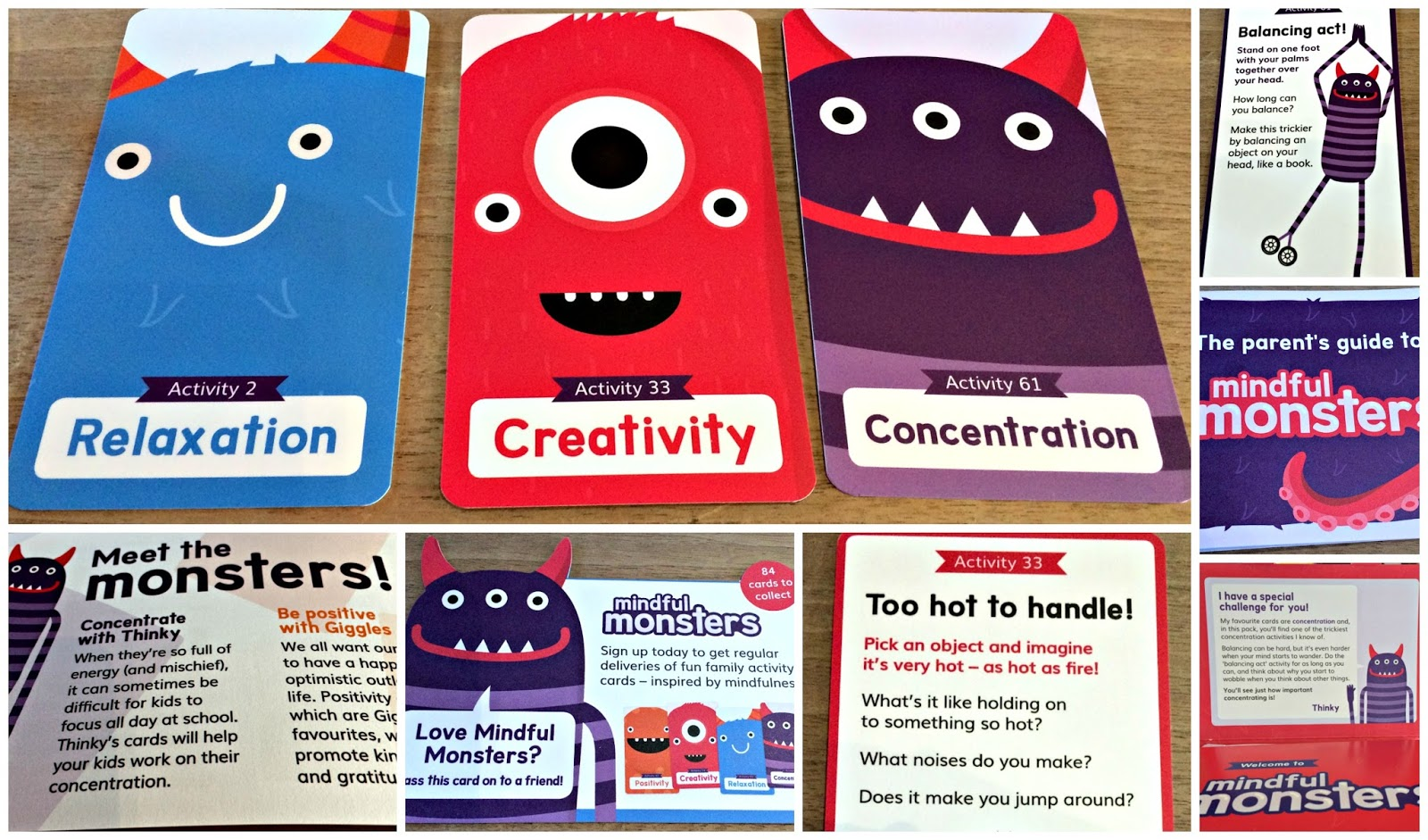 Mindful Monsters cards from the charity Scope