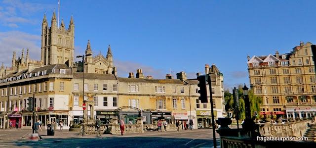 A Abadia de Bath e a North Parade