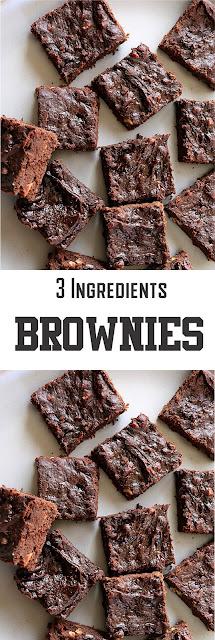 3 INGREDIENT BROWNIES