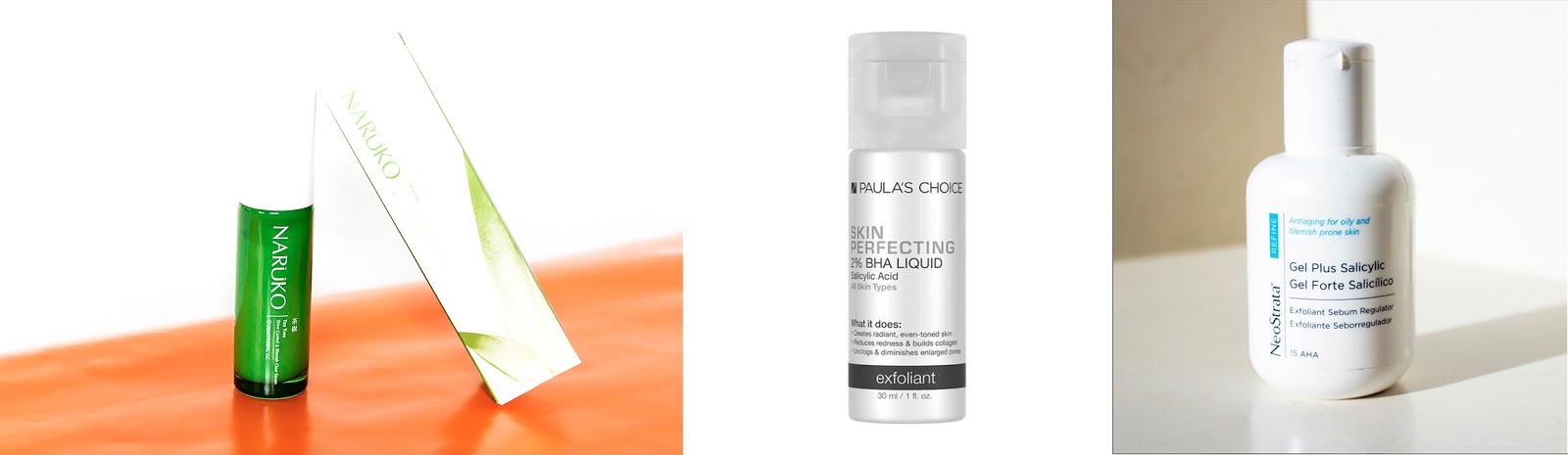 Productos con BHA para pieles grasas