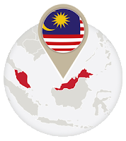 Malaysian flag and map