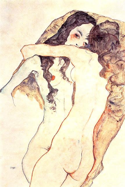 Egon Schiele: Donne che si abbracciano