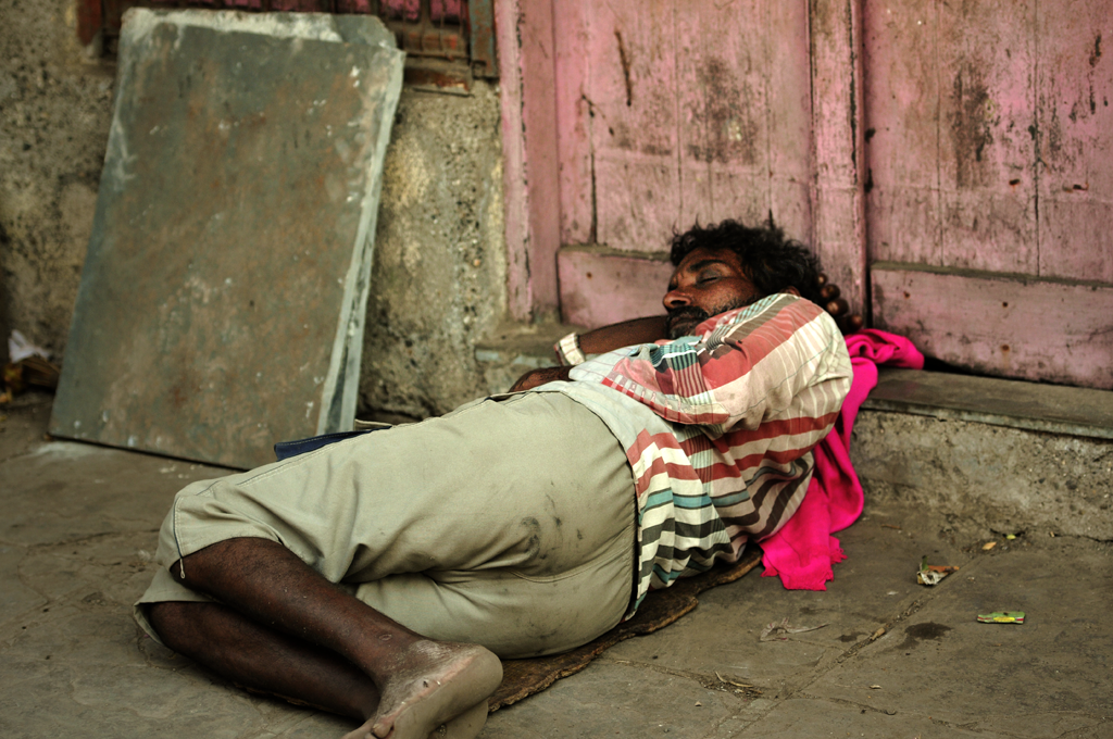 This is a slum photo from Dharavi in India.