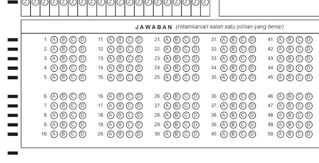 Download Lembar Jabawan Komputer (LJK) Latihan Ujian SMP, SMA, dan SMK, Format PDF dan CDR