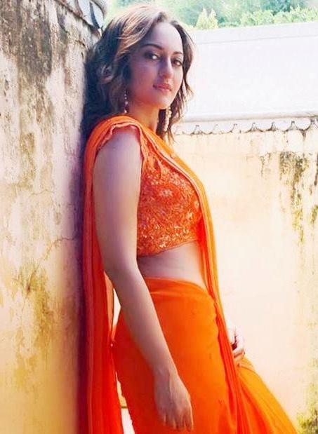 Sonakshi Sinha in Pink Sari