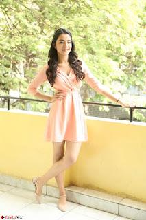 Rukshar Mir in a Peachy Deep Neck Short Dress 136.JPG