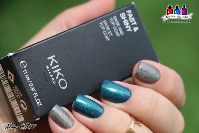 Kiko, 400 Steel Grey, holographic, Holográfico, Holo, Cinza, Grafite, 32 Peacock Green, Smart Nail Lacquer, Teal, Shimmer, Fast & Shiny, Base and Top Coat, born Pretty BP-L050, Konad, carimbo transparente,