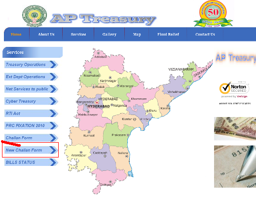 Ap Cyber Treasury- AP treasury online Challan Form