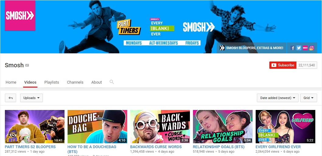 channel smosh