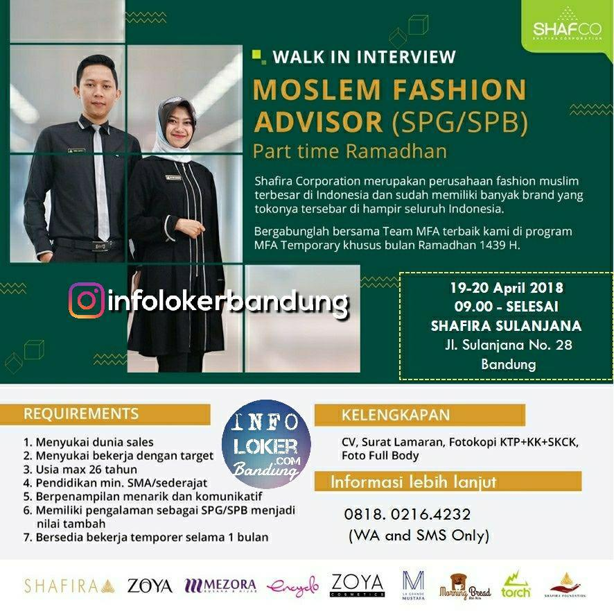 Lowongan Kerja Shafira Corporation ( Safco ) Bandung April 2018