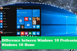 Difference between Windows 10 Professional with Windows 10 Home