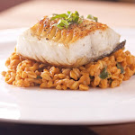 Farro Risotto with Black Cod