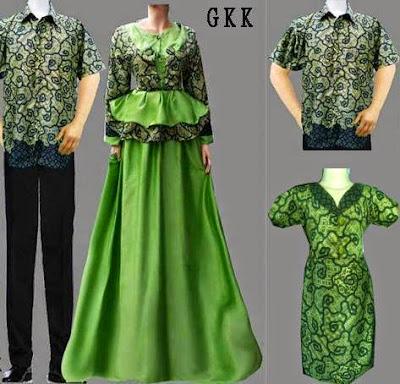Model Baju Batik Keluarga Plus Anak Terbaru