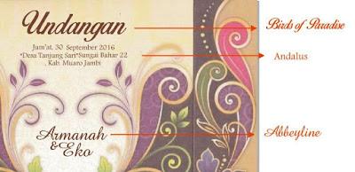 Download Desain Blanko Undangan Pernikahan ERBA 88174 Simpel dan Elegan Gratis!