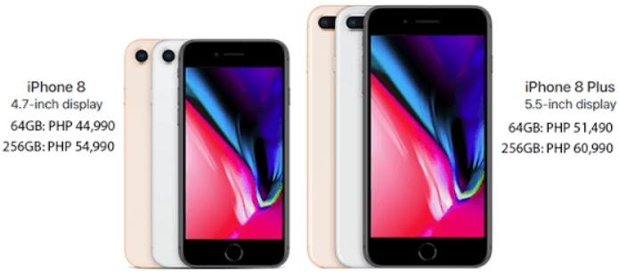 Apple iPhone 8 and iPhone 8 Plus Prices