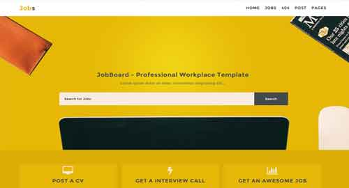 Jobs Responsive Blogger Template