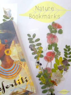 Laminated pressed flower book marks