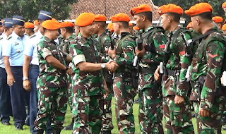 Usai Tugas Di Papua, Batalyon Komando 463 Paskhas TNI AU lanud Iswahyudi kembali Ke Markas
