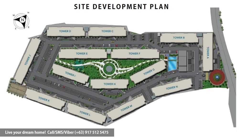 Site Development Plan | SMDC Park Residences - 1 Bedroom Unit | Condominium for Sale Santa Rosa Laguna