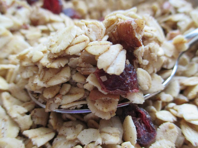 Maple-Pecan Granola with Cranberries