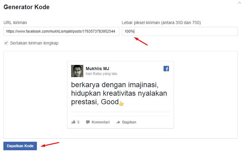 cara posting ulang status facebook