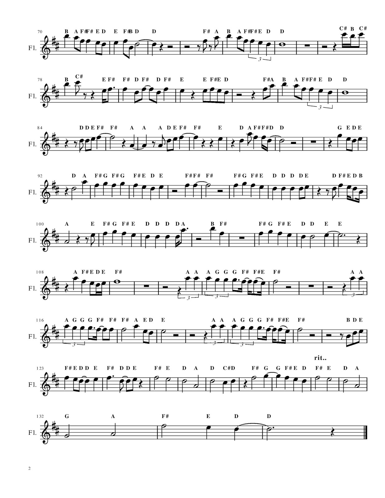 Flute Cafe Thinking Out Loud By Ed Sheeran Flute Sheet Music