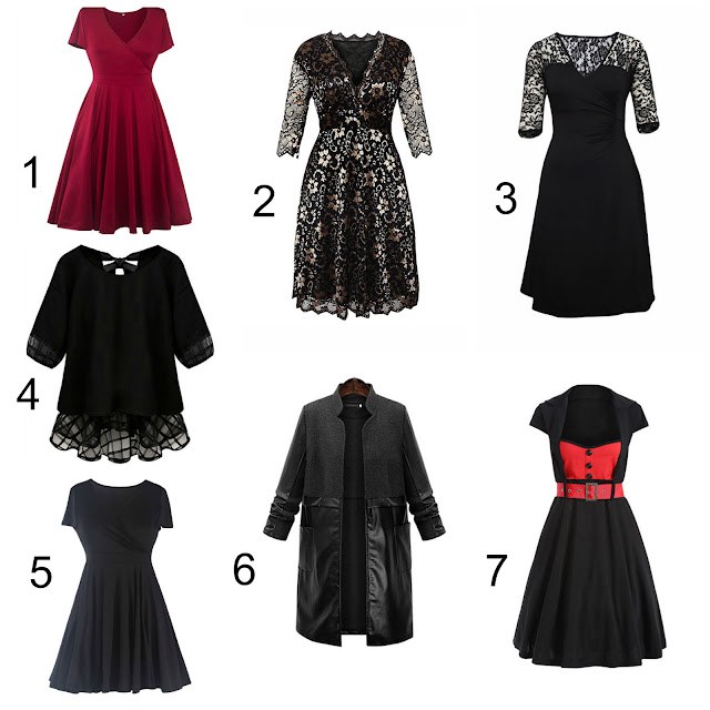 black plus size cheap holiday outfits