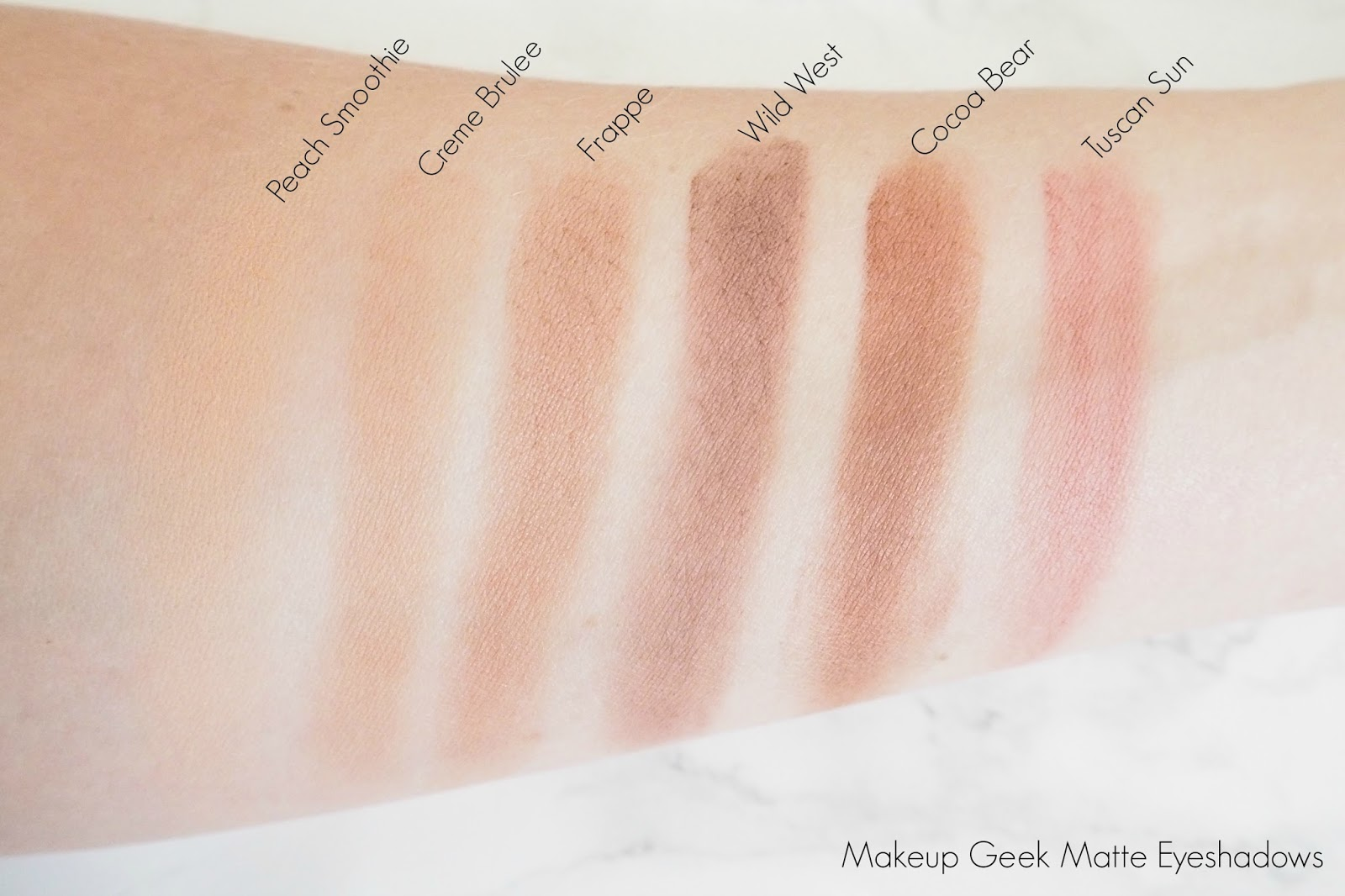 Makeup Geek Matte Eyeshadow Swatches