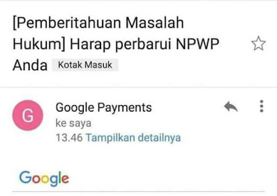 NPWP Google Payments