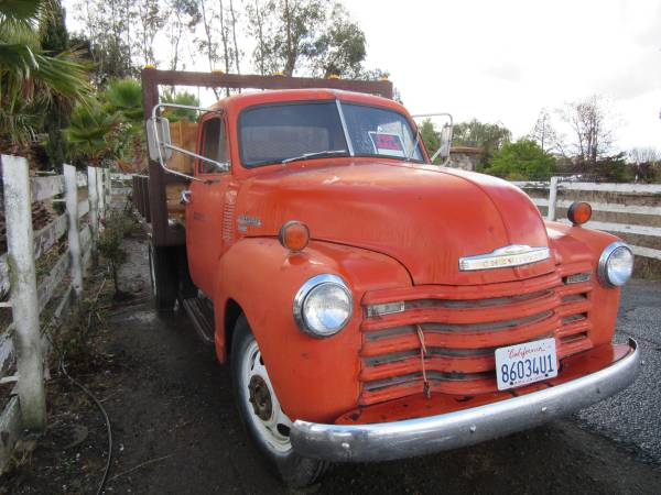 1951 Chevy 3800 Flatbed Truck - Old Truck