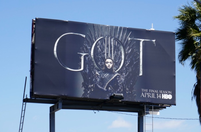 Game of Thrones final season Arya billboard