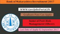 Bank of Maharashtra Recruitment 2017– Risk Management Officers