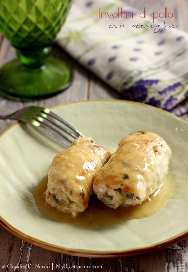 Involtini di pollo con acciughe e pecorino