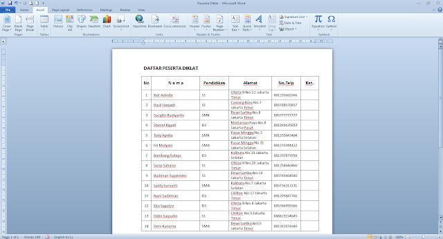 Mengiririmkan sebuah pesan atau file data melalui email  Cara Membuat Tabel Data Di Email