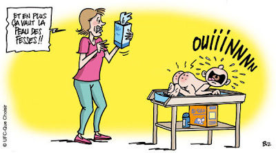 les lingettes pour bébé vu par ufc que choisir