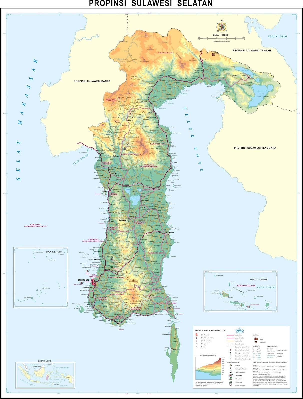 Download Peta Sulawesi Selatan