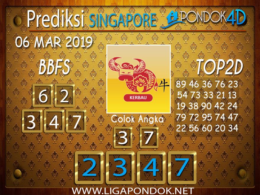 Prediksi Togel SINGAPORE PONDOK4D 06 FEBRUARI 2019