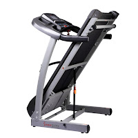 Soft Drop folding deck system on Sunny Health & Fitness SF-T7515 and SF-T7514 treadmills
