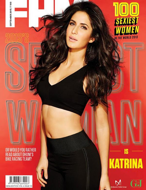 Katrina Kaif on the cover of FHM India's 100 sexiest women in the world 2013 issue
