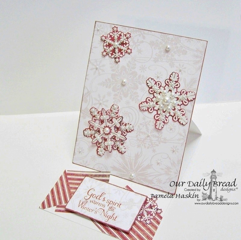 Stamps - Our Daily Bread Designs Sparkling Snowflakes, Snowflake Sentiments, ODBD Custom Snowflakes Die, ODBD Christmas Paper Collection 2013