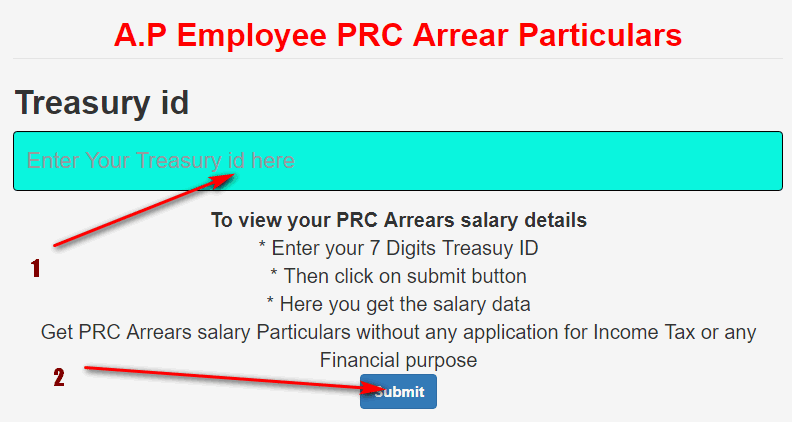 Know your 10th PRC Arrears with your Treasury ID