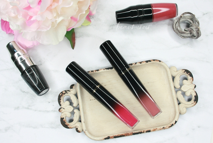 glossy liquid lipstick lasts all day through meals
